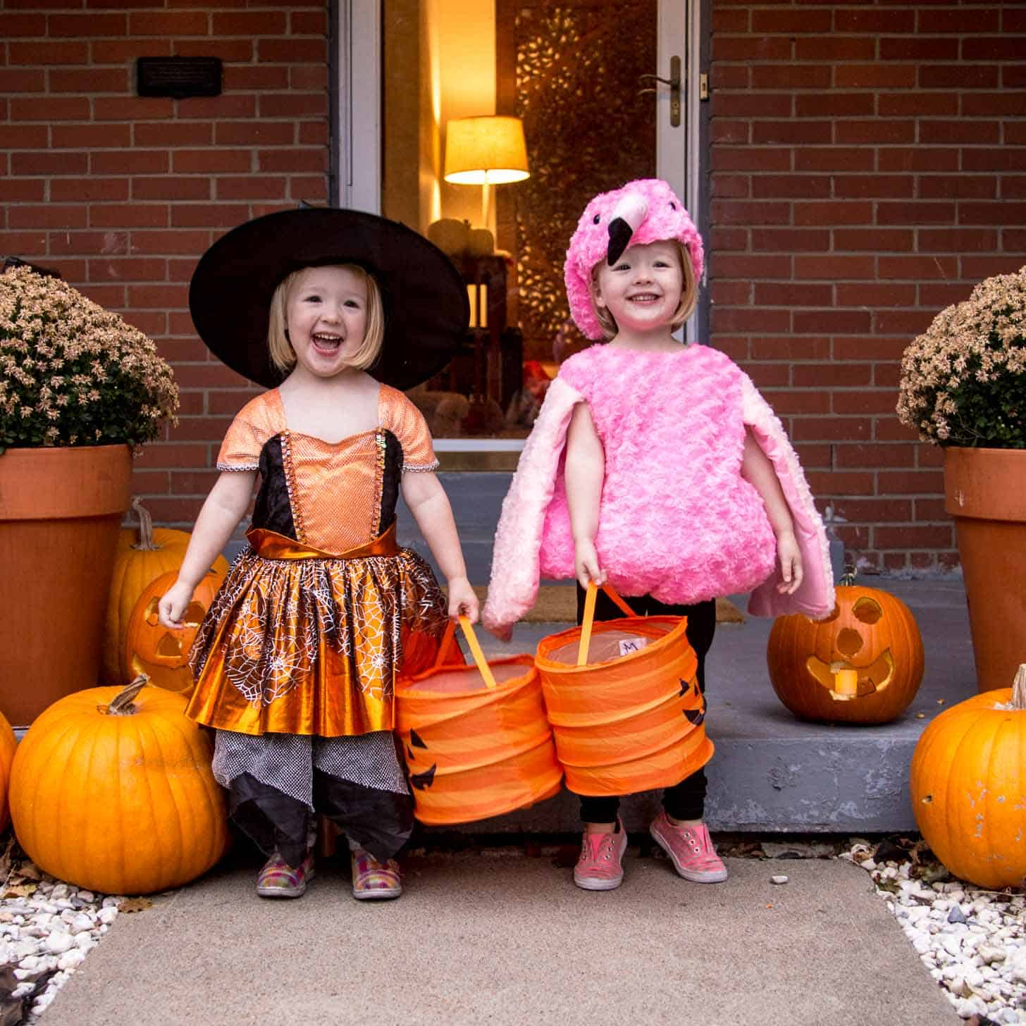 Molly and Clara on Halloween