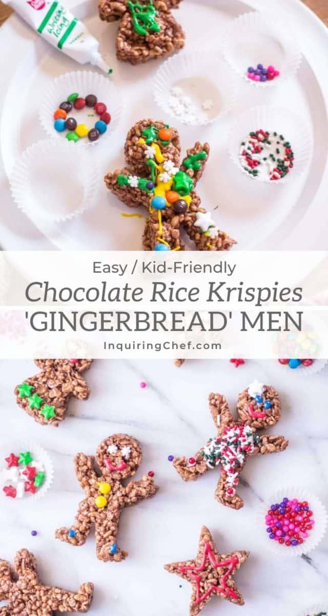 chocolate rice krispies gingerbread men