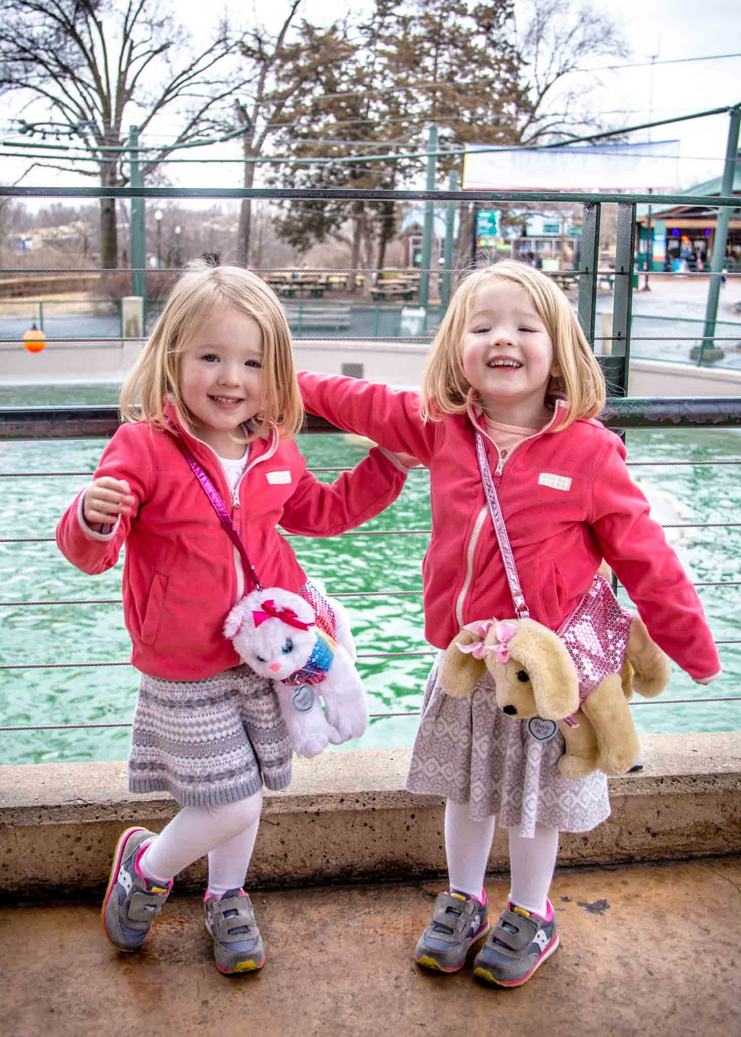 Molly and Clara at the Zoo