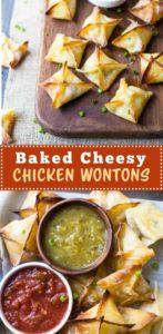 Baked Cheesy Chicken Wontons