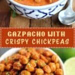 Gazpacho with Crispy Chickpeas
