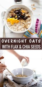 Overnight Oats with Flax and Chia Seeds