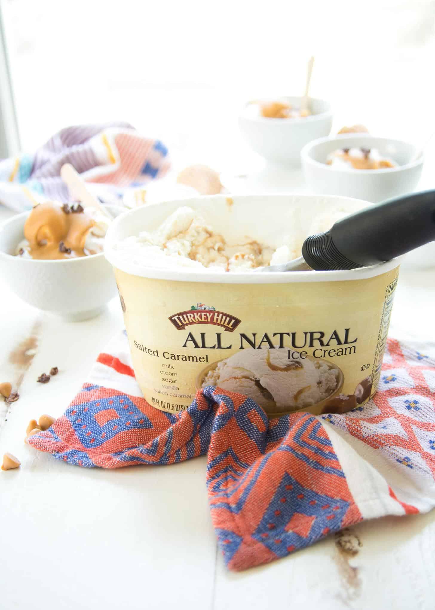 ice cream with a scoop