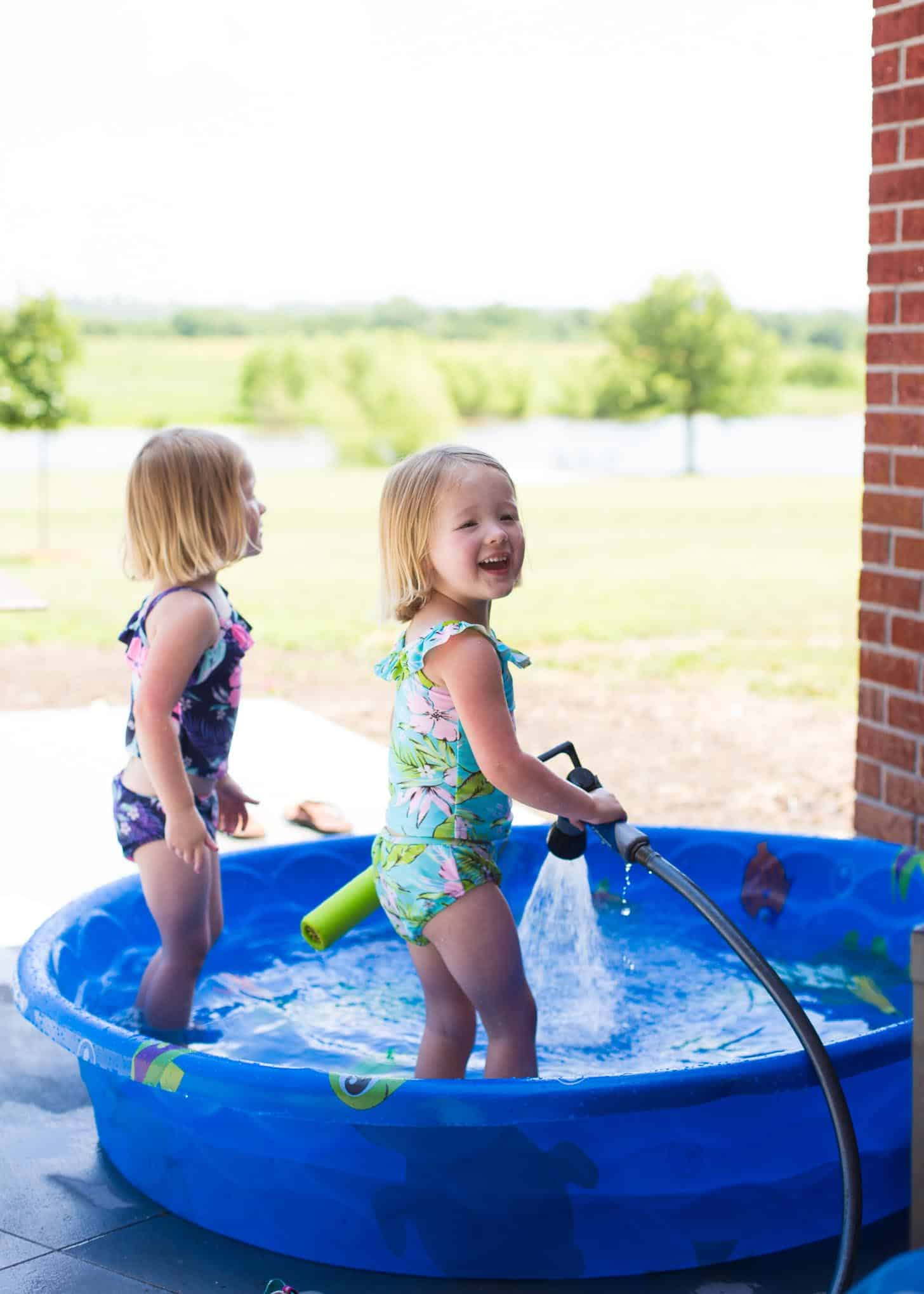 playing in the baby pool