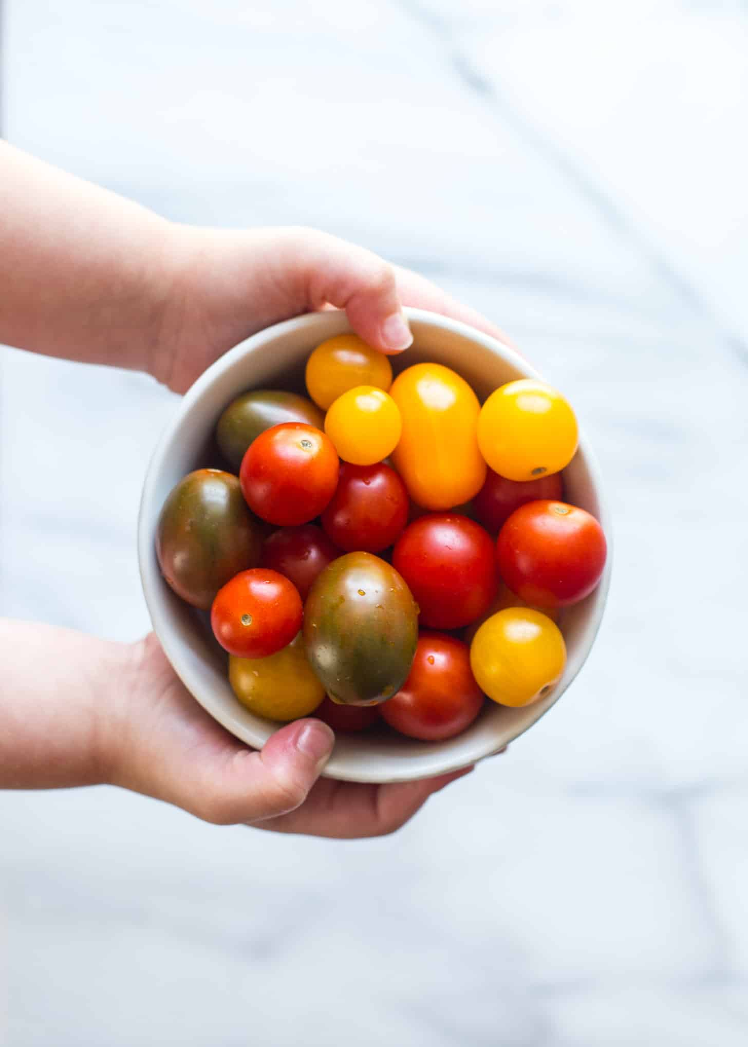 cherry tomatoes in a small bowl