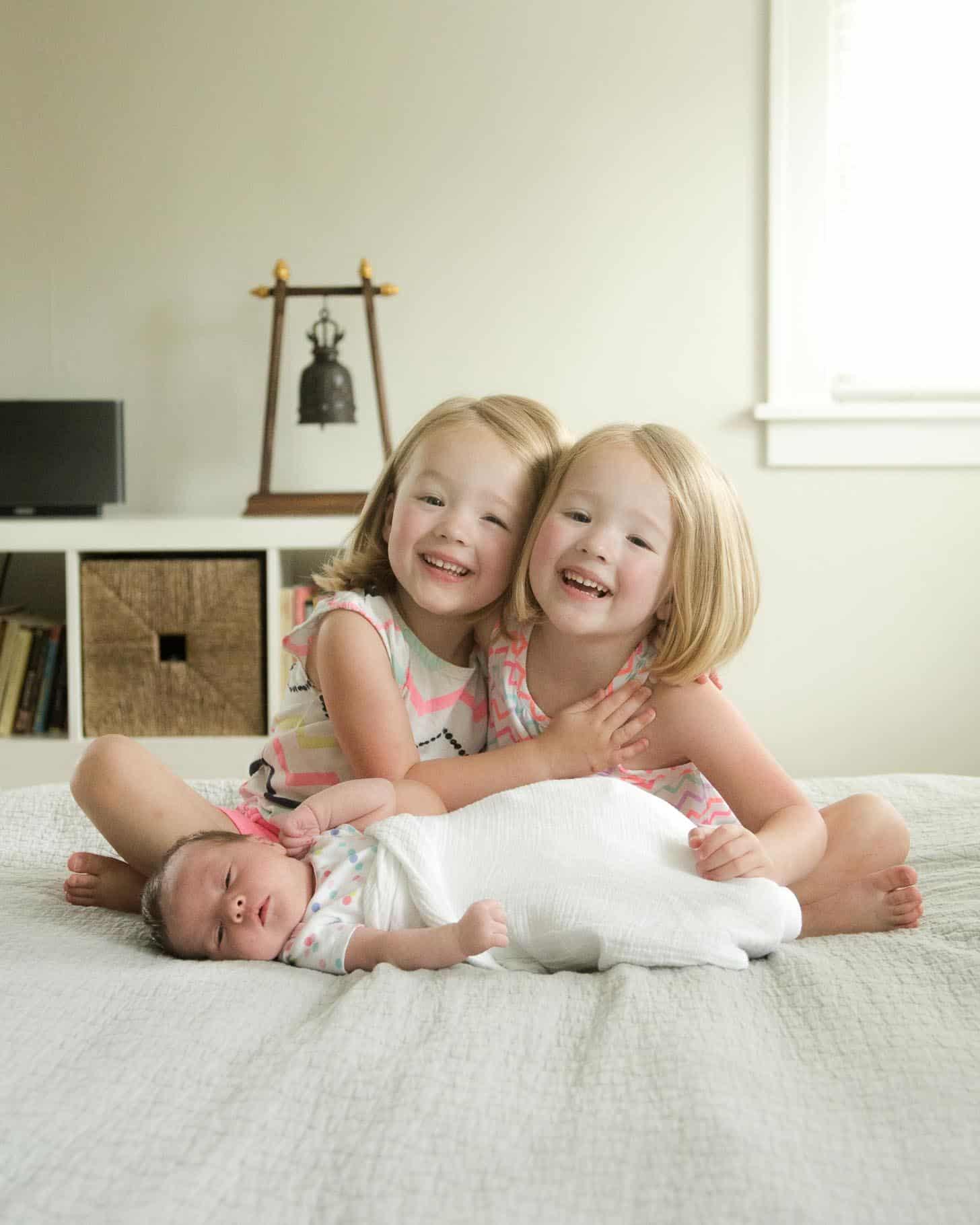 Molly, Clara and baby June
