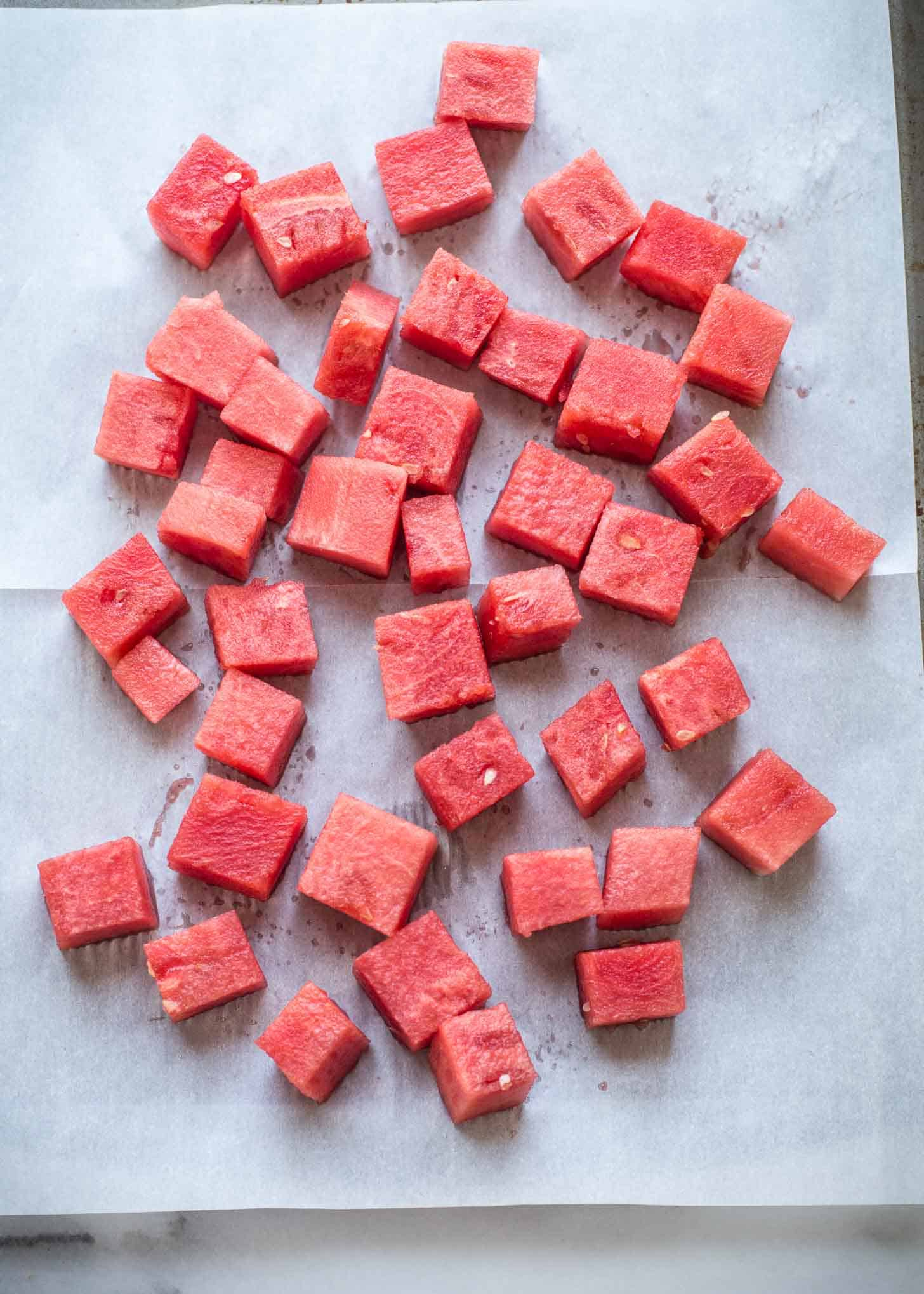 cubes of watermelon