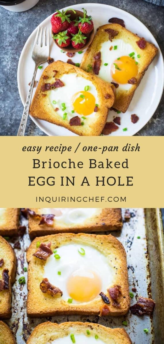 Brioche Baked Egg in a Hole recipe