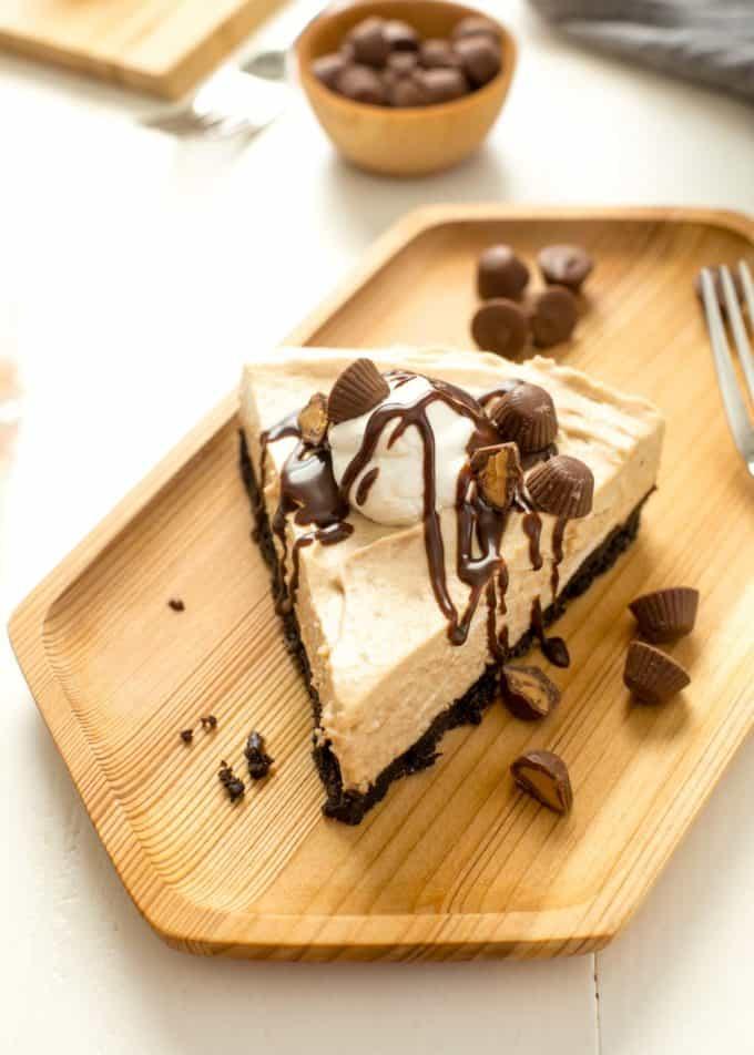Frozen Peanut Butter Cheesecake Pie