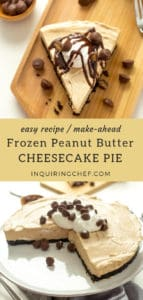 Frozen Peanut Butter Cheesecake Pie recipe