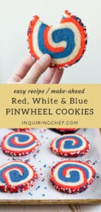Red, White and Blue Pinwheel Cookies recipe