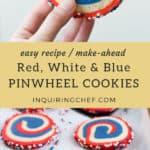 Red, White and Blue Pinwheel Cookies recipe