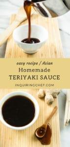 Homemade teriyaki sauce pin