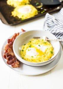 Spaghetti Squash Egg Nests