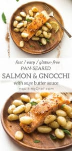 Pan Seared Salmon and Gnocchi with Sage Butter Sauce