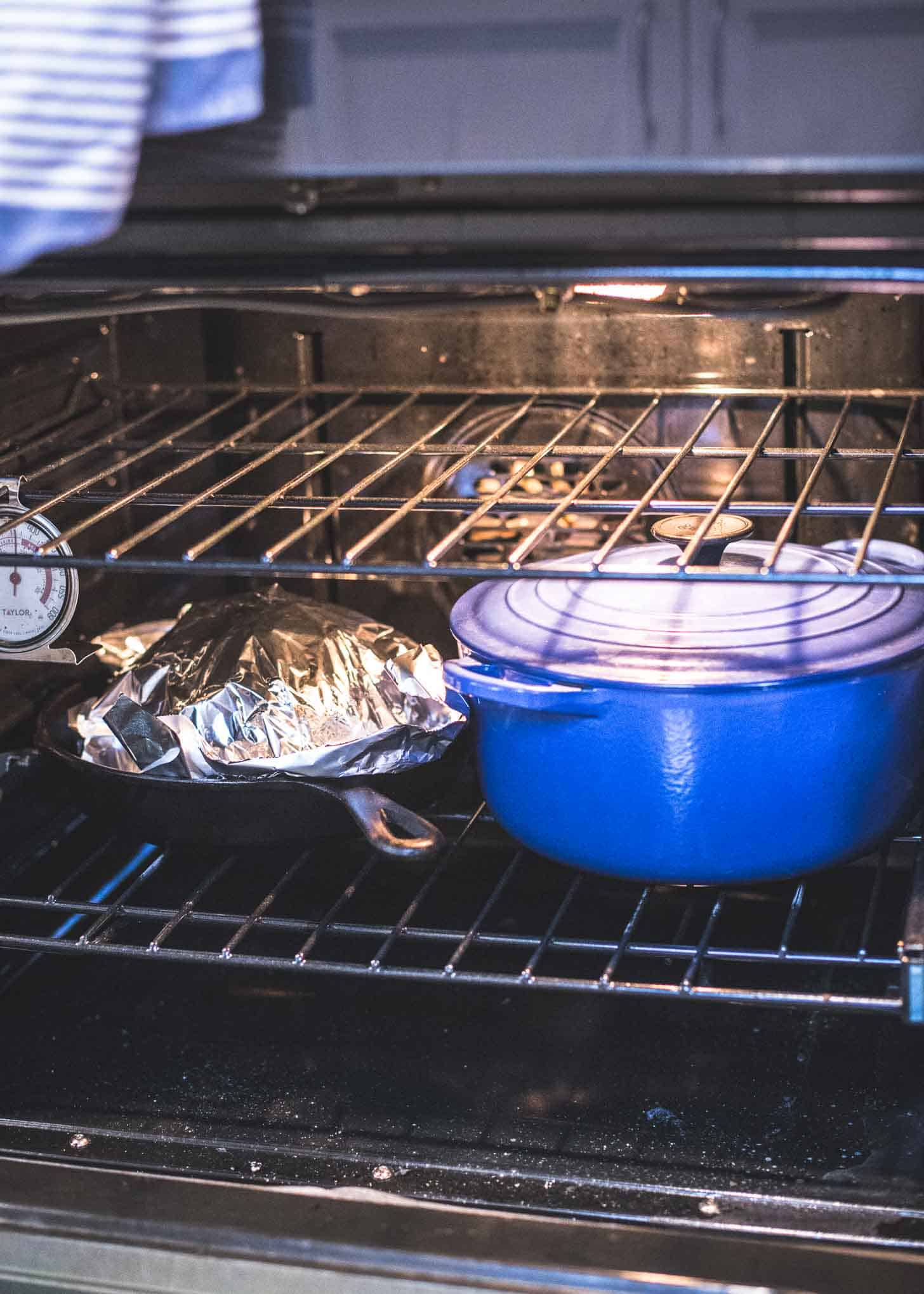 roasting a cauliflower in the oven