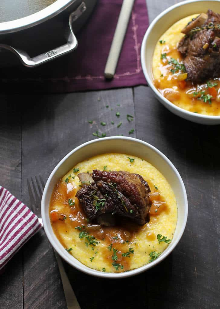 Braised Short Ribs with Parmesan Polenta
