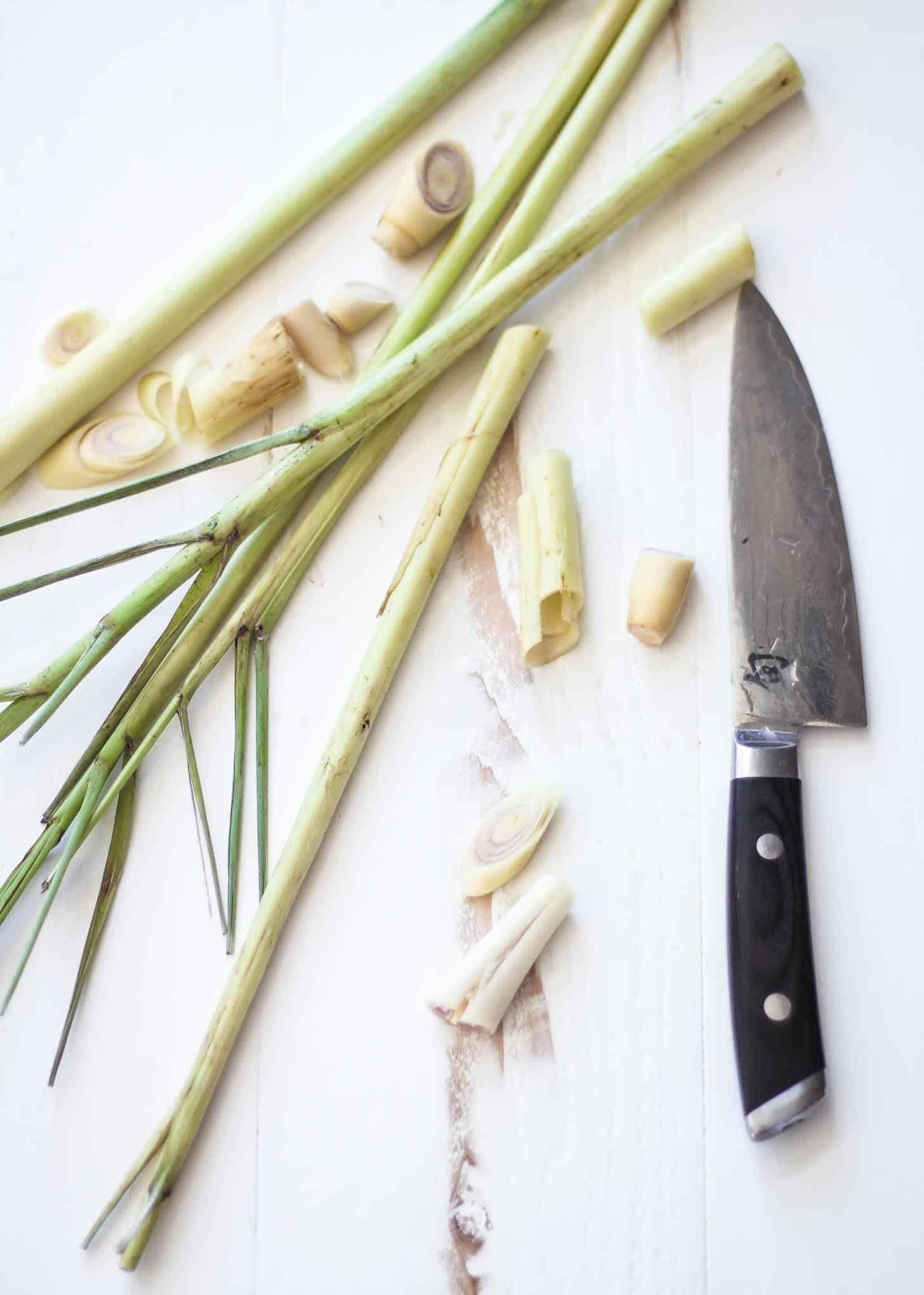 cutting lemongrass