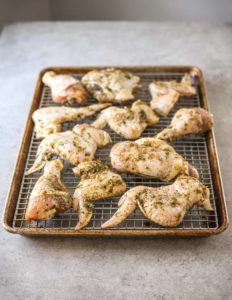 Prepping Thai-Style Grilled Chicken (Gai Yang)