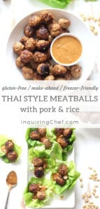 Thai-Style Meatballs with Pork and Rice