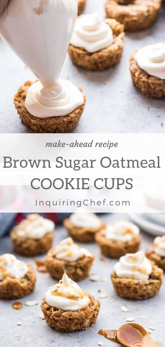 Brown sugar oatmeal cookie cups