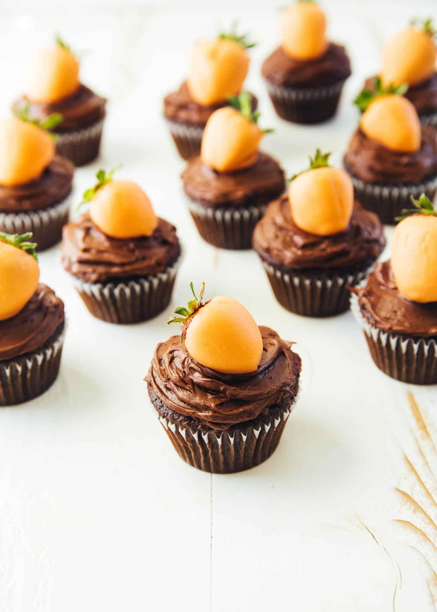 Carrot Top Chocolate Cupcakes