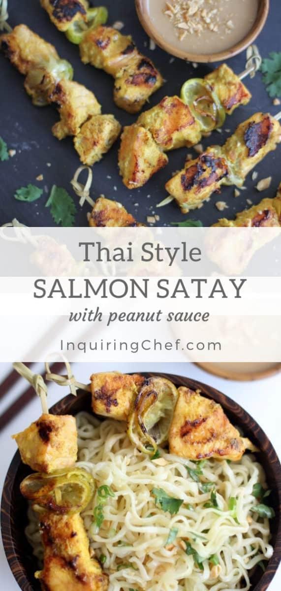 Thai-Style Salmon Satay with Peanut Sauce