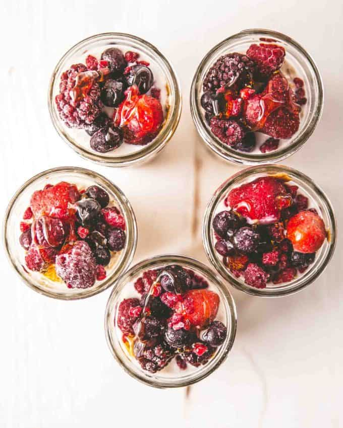Mason Jar Overnight Oats {Meal Prep}