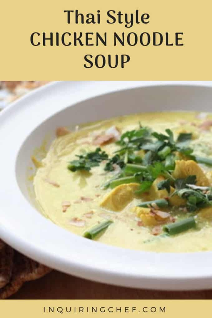 Thai-Style Chicken Noodle Soup is delicious and restorative. The garlic, lime juice, chilis, and broth have their cold-zapping benefits and the flavor from the peanuts and coconut milk offer up all the things that I love about Thai peanut dipping sauce.