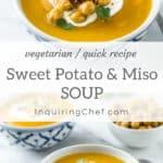 Sweet potato soup with miso