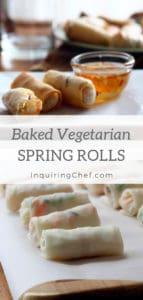 Baked Vegetarian Spring Rolls
