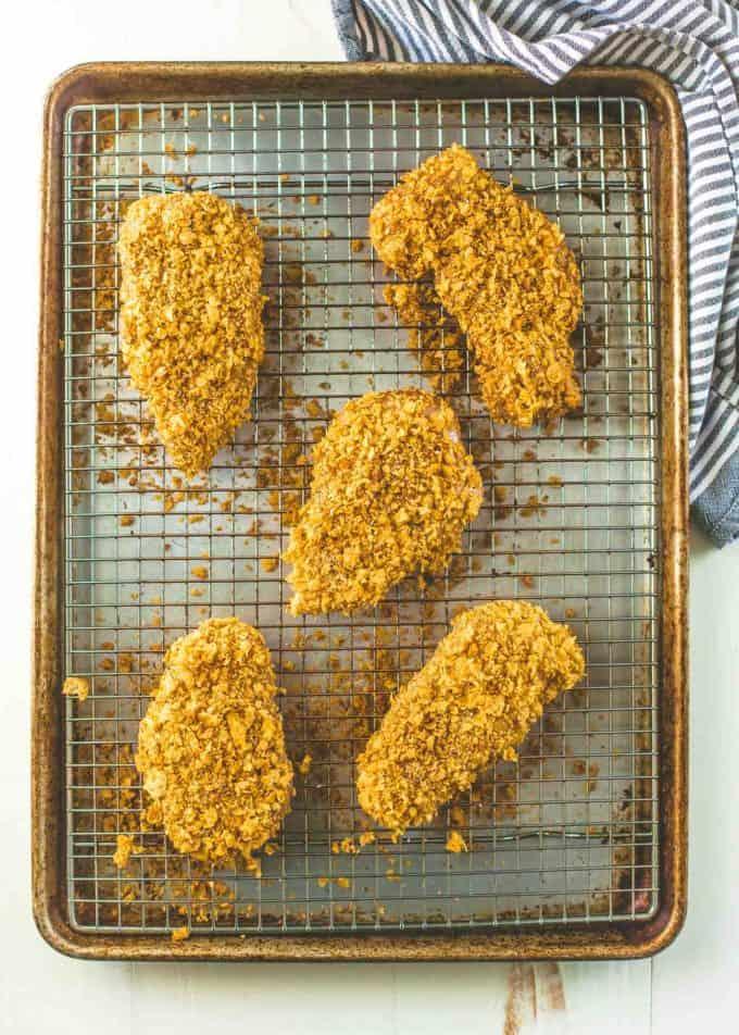 Crispy Baked Cornflake Chicken