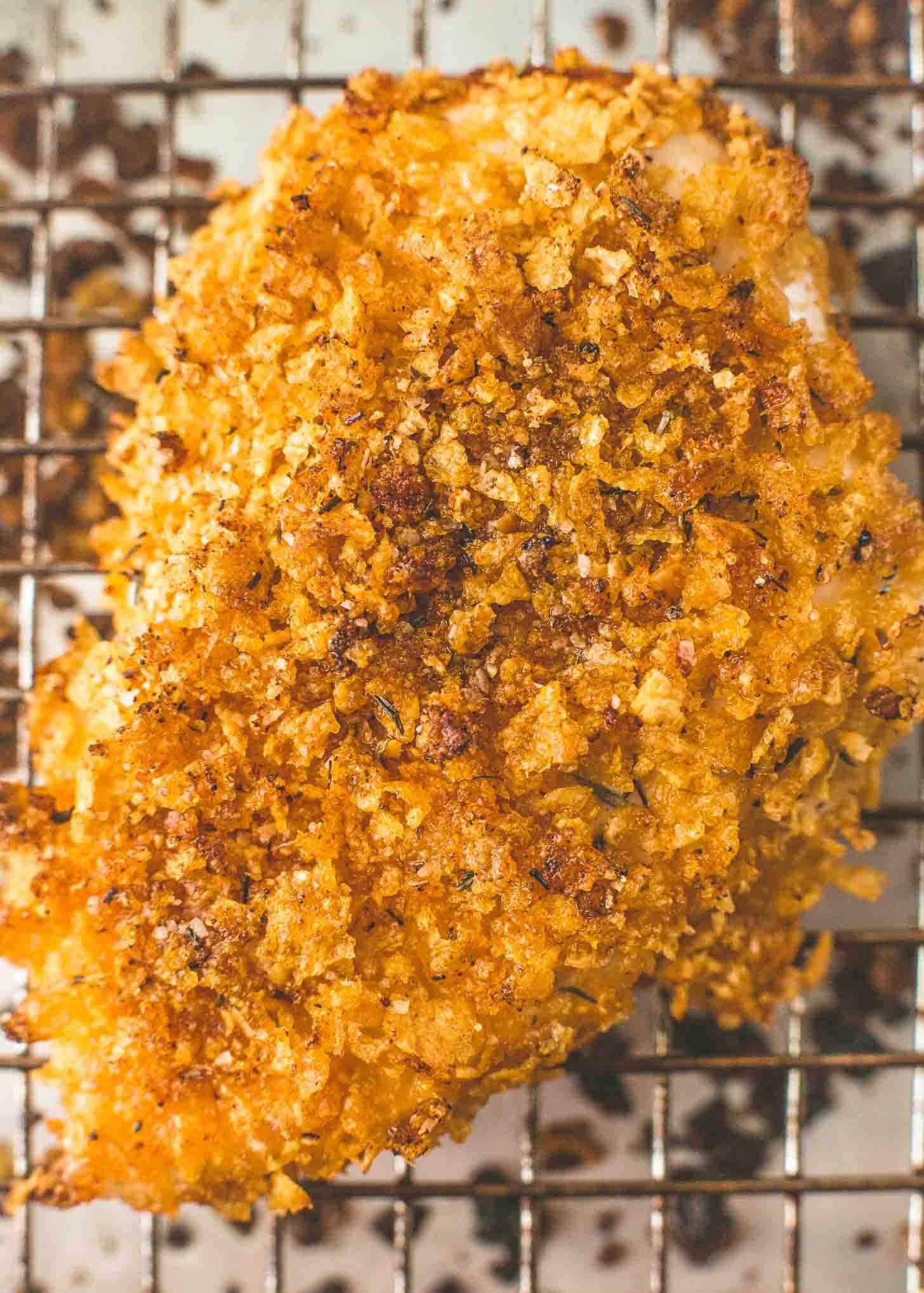 a piece of Baked Cornflake Chicken