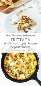 Frittata with Asparagus, Bacon and Goat Cheese