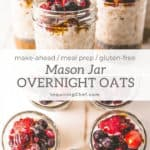 Mason Jar Overnight Oats {Meal Prep}