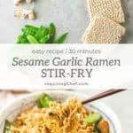 Sesame Garlic Ramen Stir-Fry