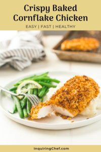 Crispy Baked Cornflake Chicken on a plate