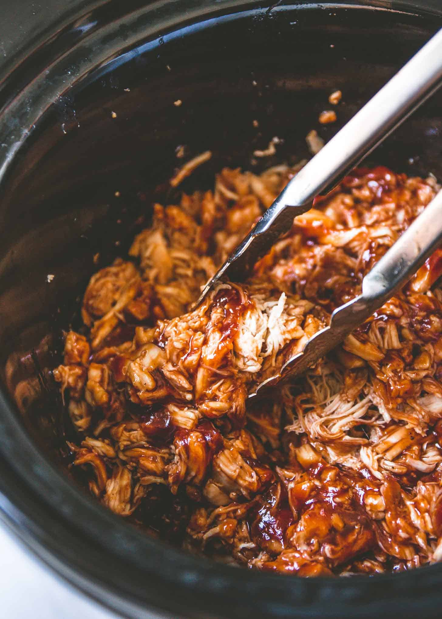 BBQ Pulled Chicken in a slow cooker