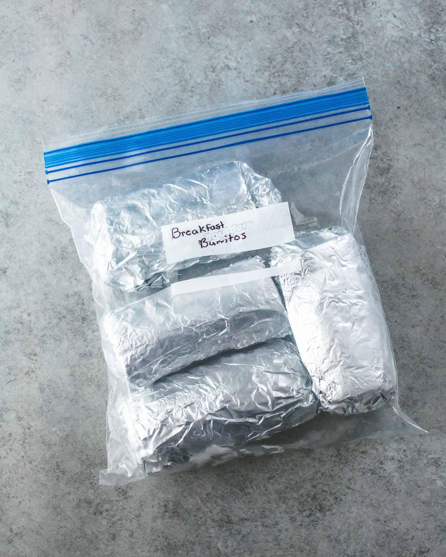 Make-Ahead Breakfast Burritos in a freezer bag