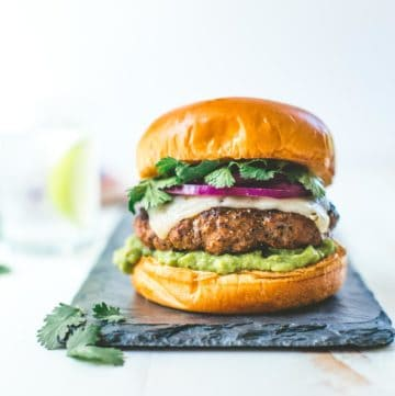 Tex Mex Burgers with Guacamole