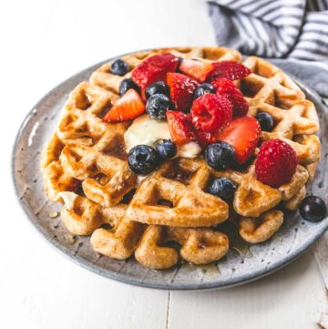 Light and Fluffy Whole Wheat Waffles