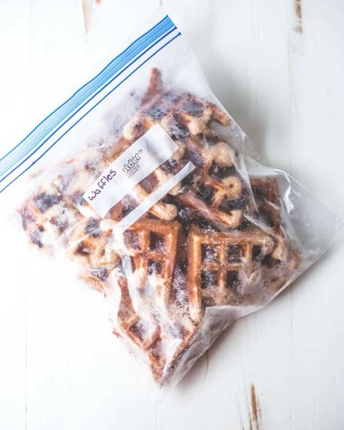 waffles in a freezer bag