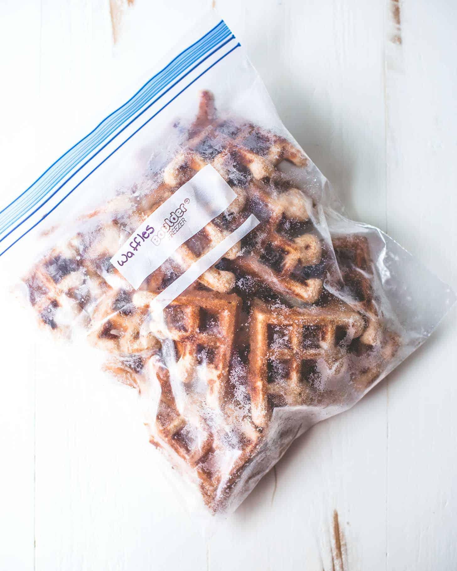 waffles in a freezer bag