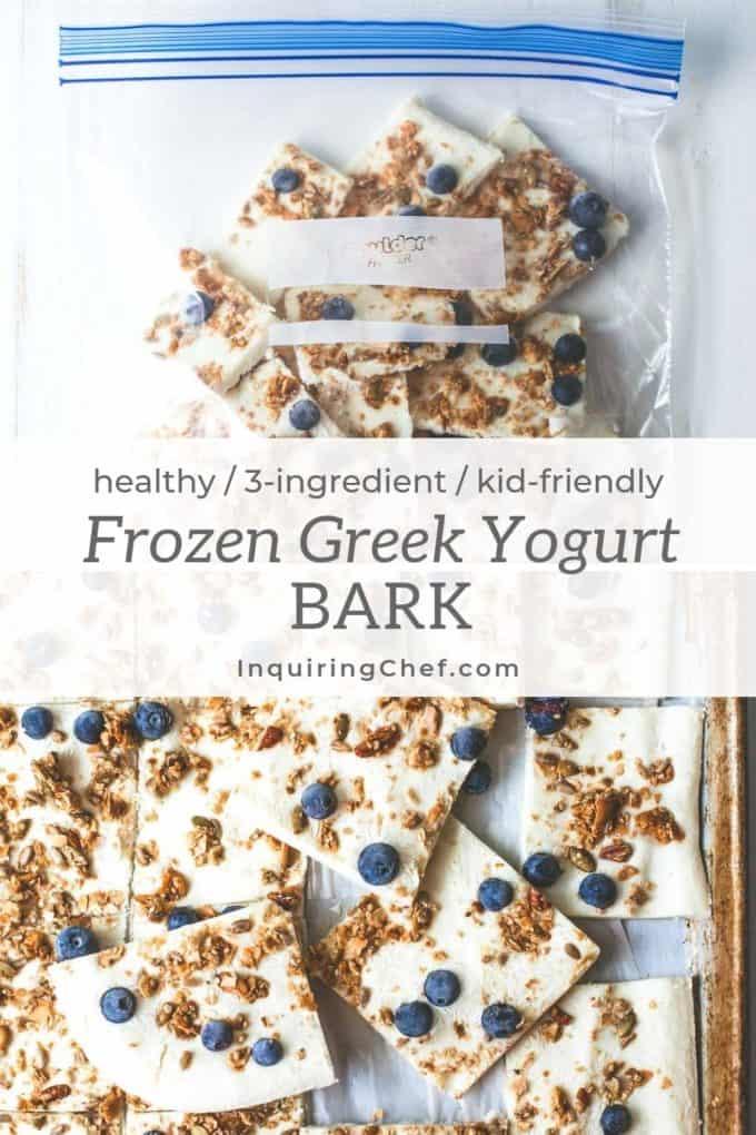 frozen greek yogurt bark