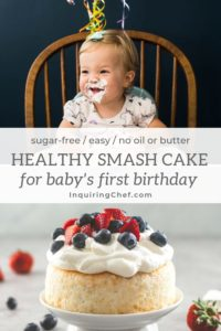 Healthy Smash Cake for Baby's First Birthday