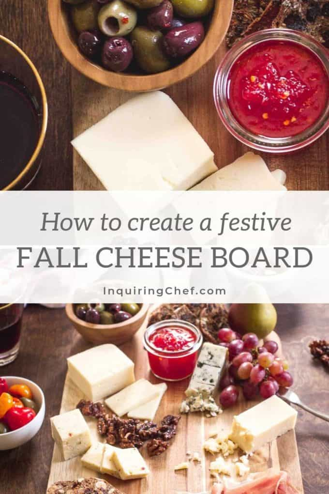 festive fall cheese board