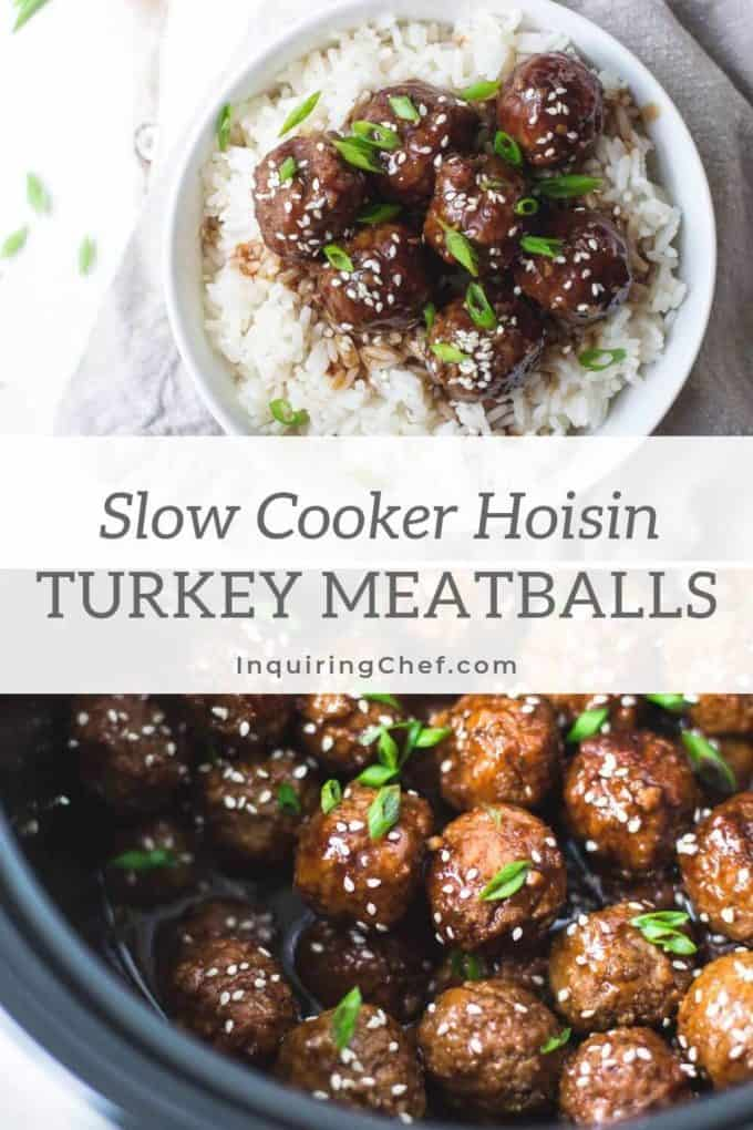 In search of super easyweeknight dinners, Slow-Cooker Hoisin Turkey Meatballshave jumped to the top of my list. Tendermeatballs simmer slowly in a sweet and savory sauce and come in at under 300 calories per serving. Add rice and steamed broccoli or green beans and dinner is served!