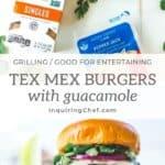 Tex Mex Burgers with Guacamole