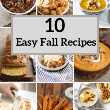 10 easy fall recipes