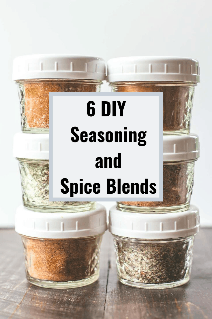 DIY Spice Blends in small glass jars
